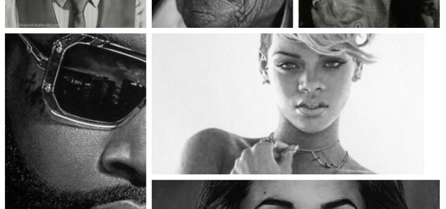 PHOTOS : AMAZING LIFE-LIKE PENCIL DRAWING – BY NIGERIAN ARTIST KELVIN OKAFOR