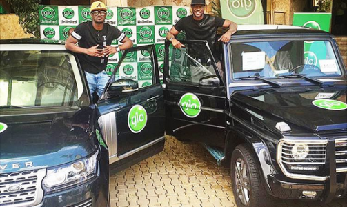Glo Rewards P-Square's Loyalty With 2015 Range Rover & G- Wagon (Photos)