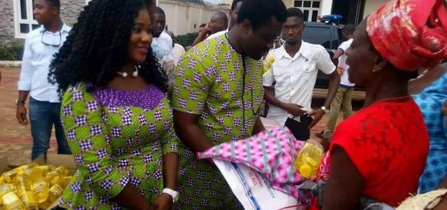 Actress Mercy Johnson & her husband Prince Odi Okojie Celebrates Easter with Widows ( See Photos)