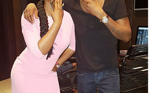 2Baba and Yemi Alade in the Studio for a Music Collaboration (See Photos)
