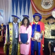 Photos From 2Face Idibia's Honorary Degree At Igbinedion University
