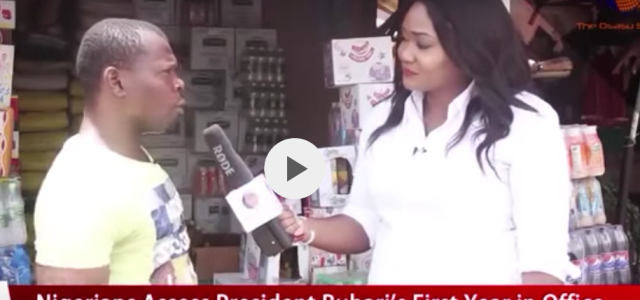 Very Funny Video : Trader Mr Chido Laments On President Buhari's 1 Year in Office