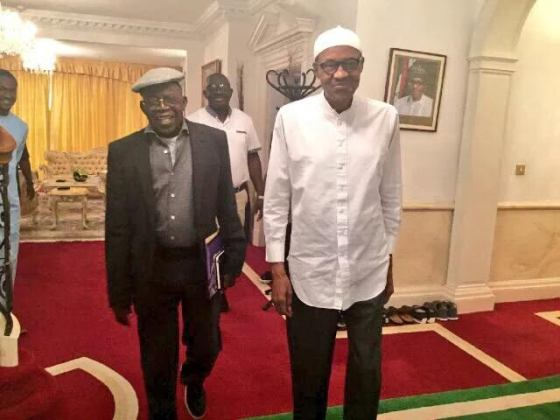 President Buhari Meets with Tinubu & Oba Sikiru Adetona today in UK