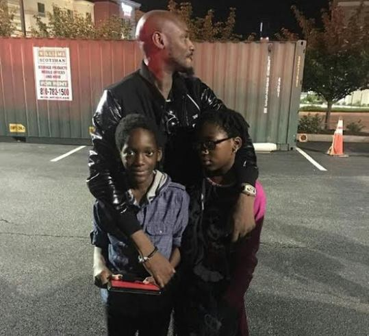 2Face Spends Time with his 2Kids in the USA
