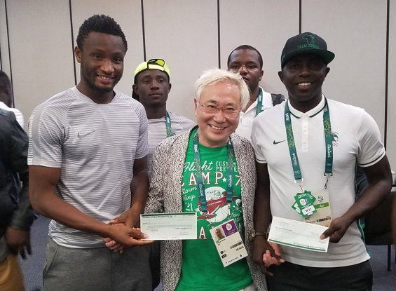 Japanese Millionaire Surgeon Katsuya Takasu Fulfills Promise to Nigeria's Dream Team
