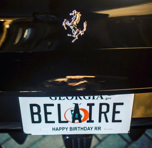 Belaire gifts Rick Ross New Ferrari for 41st Birthday (See Photos)