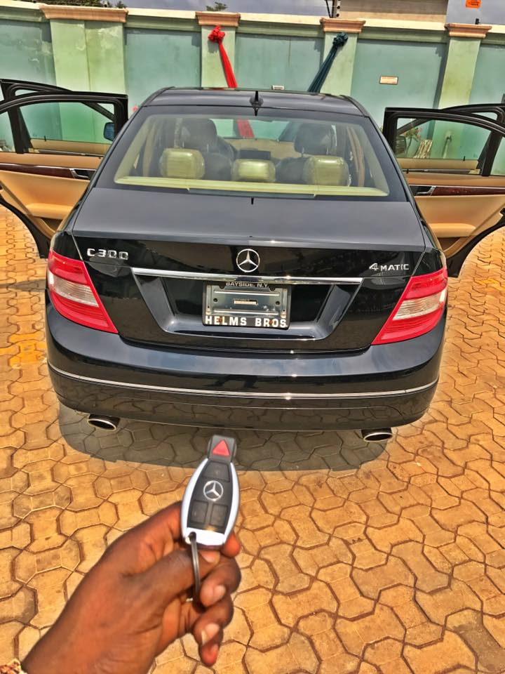 Nigerian Guy gifts his 2go Girlfriend N15m Mercedes-Benz on her Birthday