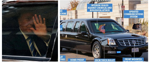 Checkout The Magnificent Features Built Into Donald Trump's New Presidential Limo (See Photos)