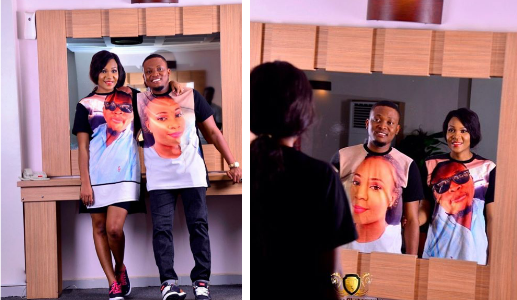 Couple Imprints Partner's Face on T-Shirts for Pre Wedding Shoot (See Photos)