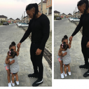 Aww !! Check Out this Photo of singer, Flavour's daughters hugging Each other