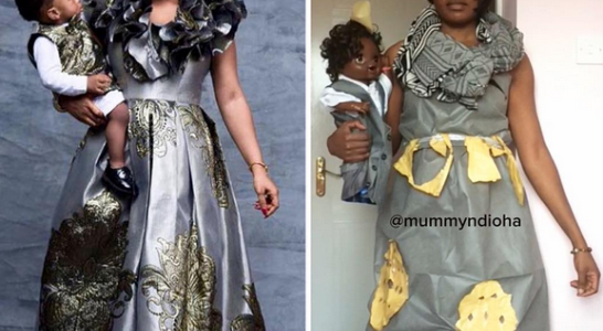 Comedienne Mummy Ndioha Recreates Tonto Dikeh's Viral Photo