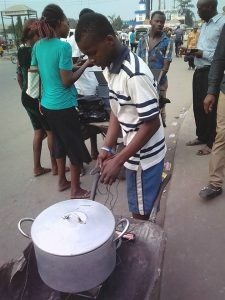 16 Year Old Nigerian boy Builds Cooking Stove that Makes Use of Battery & Charcoal