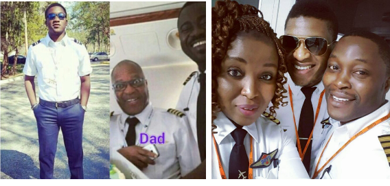 Meet the Ajibola Family, Father and his Three Children are all Pilots (See Photos)