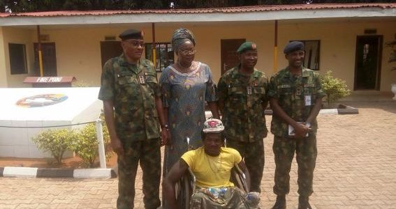 Army Commanders Meet with Crippled Man Beaten by Soldiers, Compensates Him