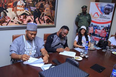 Tonto Dikeh's husband Pictured with Singer & Rosaline Meurer as Praiz becomes Big Church Ambassador (See Photos)