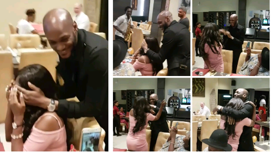 Annie thought 2Face Was out in Madrid, he Showed up and Surprised her for their 4th Anniversary (Photos / Video)