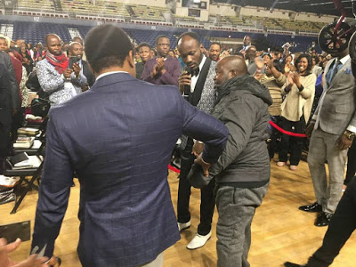 Apostle Suleman Heals man Confined to a Wheel Chair in America
