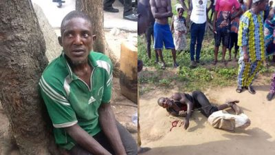 """I was Paid N4,000 to Cut Off Woman's Head and Body Parts"" - Man that Killed a Lady in Lagos Confesses"