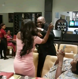 Annie thought 2Face Was out in Madrid, he Showed up and Surprised her for their 4th Anniversary