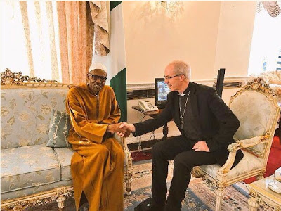 President Buhari & Archbishop of Canterbury Pictured in London today