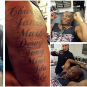Charly Boy Pierces his balls, Tattoos Children's Name on Arm (See Photos)