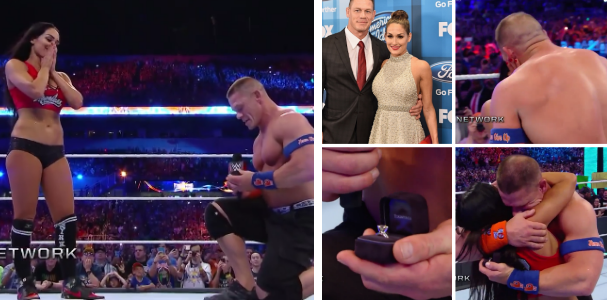 WWE Legend, John Cena Proposes to girlfriend in front of fans at WrestleMania Ring (Watch Video)
