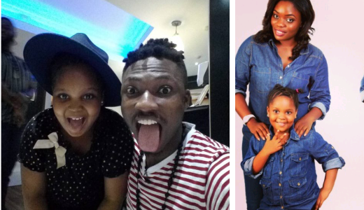 Wow !! See this Cute Photo of Efe and Bisola's beautiful daughter, Leyla