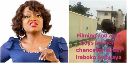 Area boys fight Funke Akindele and her crew while Filming in Lagos (See Video)