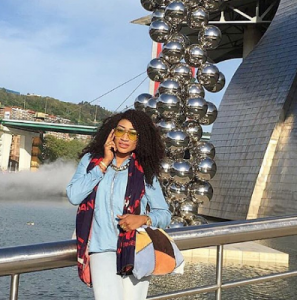 Oge Okoye Rocks denim on denim for Outing with her kids