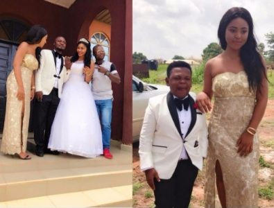 Regina Daniels & Osita Iheme Serve as Maid of honour & Best man as Prince Nwafor Weds (Photos)