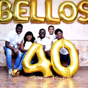 """""""The Bellos"""" Funke Akindele, her Husband and Step Children Stuns in Family Pictures as JJC Skillz turns 40"""