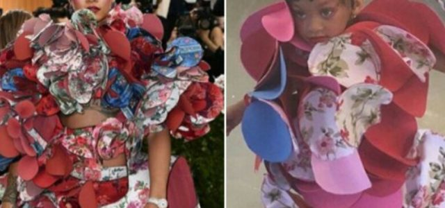 See How this Little Girl recreated Rihanna's 2017 Met Gala Outfit