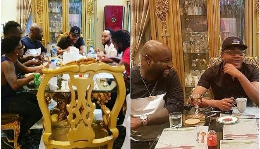 Hmm.. Something hasty, Harrysong Spotted with Five Star Family (See Photos)