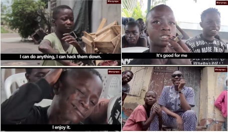 'Its my Job to kill anybody who messes with me or my group' – 11-year-old boy who belongs to Eiye confraternity Confesses (Photos/Video)