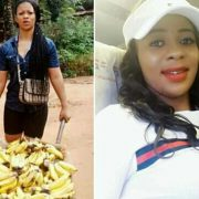 These Viral photos of pretty Nigerian lady who hawks banana on the streets yet travels by Air (A Must See)
