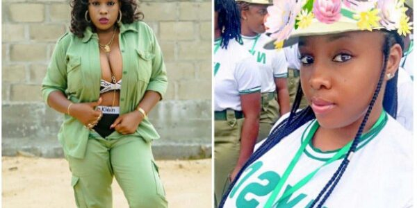 Youth Corps member flaunts her Oranges & underwear while wearing the NYSC uniform