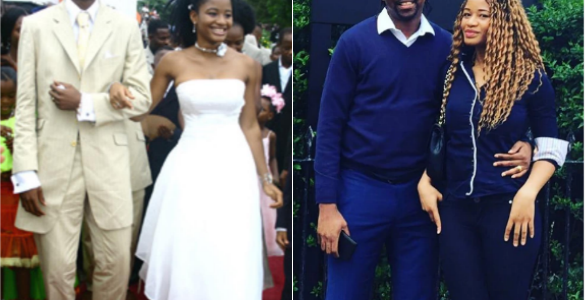 Legendary Nigerian footballer, Kanu Nwankwo and wife, Amara Celebrate 13th wedding Anniversary