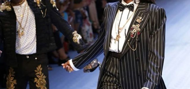 A STAR BOY and a FASHION ICON :Wizkid ,Naomi Campbell walk Dolce and Gabbana runway